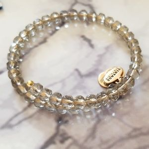 Alex and Ani beaded wrap bracelet in smoke color